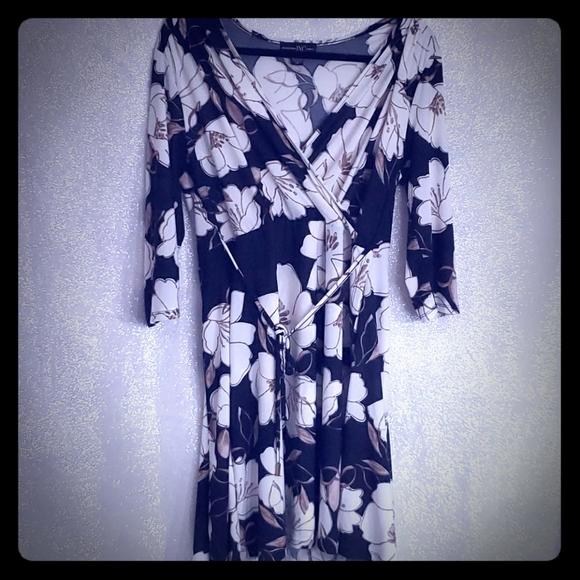 Large Floral Wrap Dress- INC company
